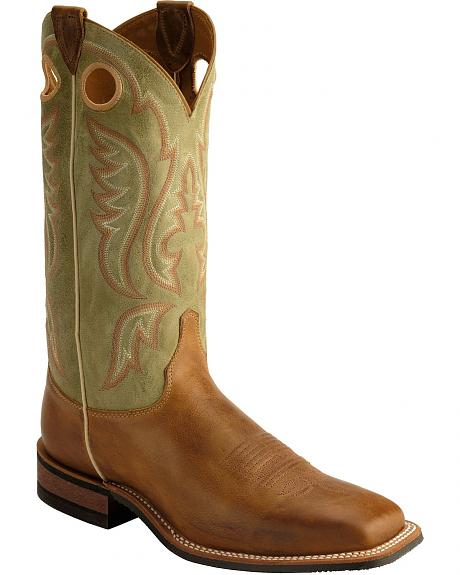 Justin Bent Rail Arizona Cowboy Boots - Square Toe