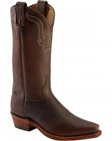 Tony Lama Rowdy Bison Western Boots - Square Toe