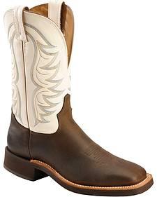 Tony Lama Elko Crepe Cowboy Boots - Square Toe