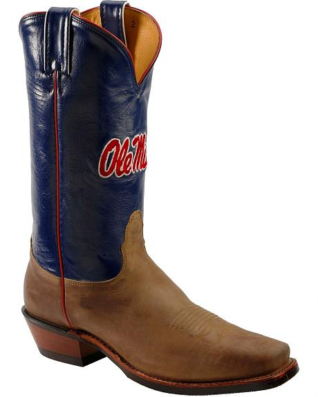 Nocona Men's University of Mississippi College Boots - Square Toe