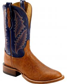 Tony Lama San Saba Royal Blue Cowboy Boots - Round Toe
