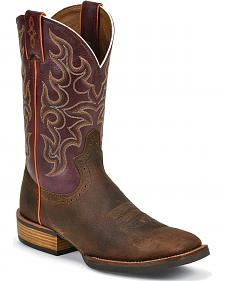 Justin Silver Cattleman Cowboy Boots - Square Toe