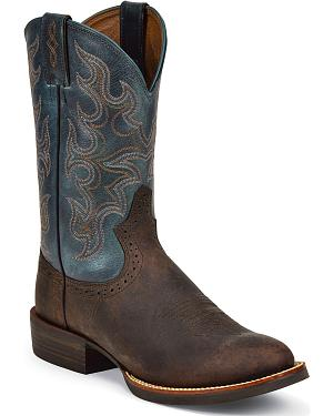 Justin Silver Cattleman Cowboy Boots - Round Toe