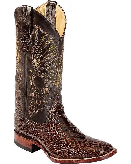 Ferrini Sea Turtle Print Cowboy Boots - Wide Square Toe