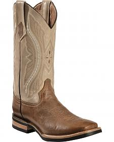 Ferrini Distressed Kangaroo Cowboy Boots - Wide Square Toe