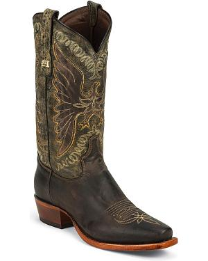 Tony Lama Black Label Century Cowboy Boots - Square Toe