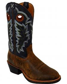 Twisted X Ruff Stock Cowboy Boots - Round Toe