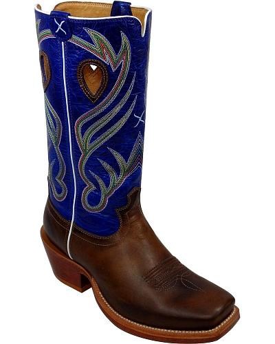 Twisted X Ruff Stock Cowboy Boots Wide Square Toe Western & Country MRSL021