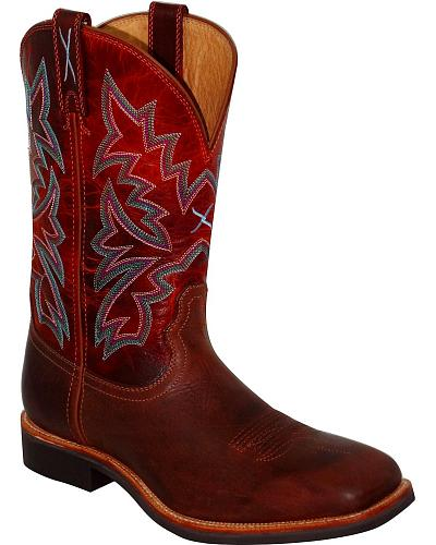 Twisted X Stockman Cowboy Boots Square Toe Western & Country MSM0008