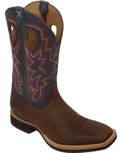 Twisted X Horseman Cowboy Boots Square Toe Western & Country MHM0013