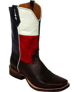 Twisted X Red River Texas Flag Cowboy Boots - Square Toe