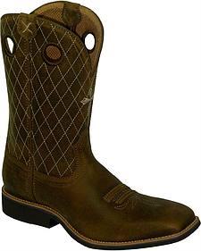 Twisted X Joe Beaver Cowboy Boots - Square Toe
