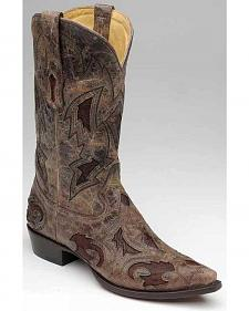 Corral Full Quill Ostrich Inlay Cowboy Boots - Snip Toe