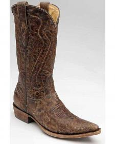 Corral Distressed Cord Stitched Cowboy Boots - Snip Toe