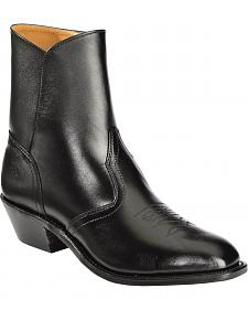 Boulet Side Zip Ankle Boots - Round Toe