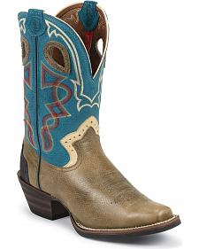 Tony Lama 3R Rough Stock Cowboy Boots - Square Toe