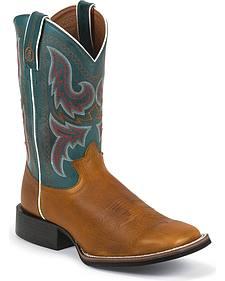 Tony Lama 3R Stockman Cowboy Boots - Square Toe