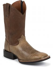 Tony Lama 3R Stockman Side Zipper Cowboy Boots - Square Toe