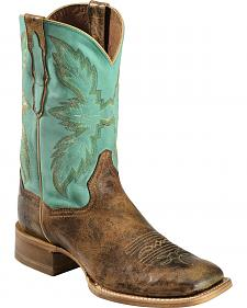 Dan Post Bail Out Gel-Flex Certified Cowboy Boots - Square Toe