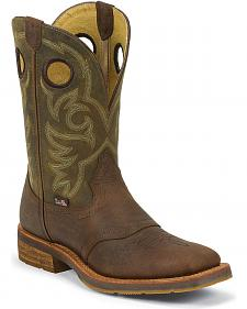Justin 1879 Saddle Vamp Cowboy Boots - Square Toe