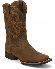 Justin Stampede Cattleman Cowboy Boots - Square Toe