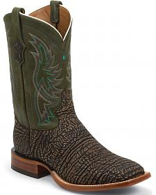 Tony Lama San Saba Distressed Cowboy Boots - Square Toe