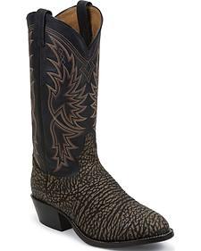 Tony Lama San Saba Distressed Cowboy Boots - Round Toe