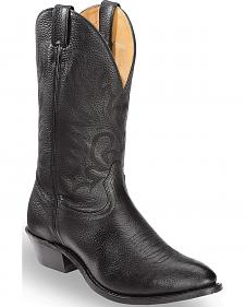 Boulet Fancy Stitched Cowboy Boots - Medium Toe