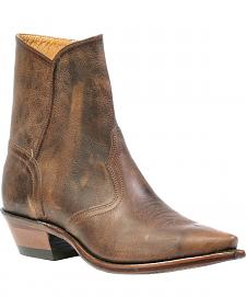 Boulet Dress Ankle Cowboy Boots - Snip Toe