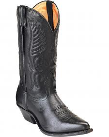 Boulet Fancy Stitched Cowboy Boots - Pointed Toe