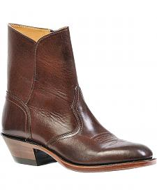 Boulet Western Dress Side Zip Cowboy Boots - Round Toe