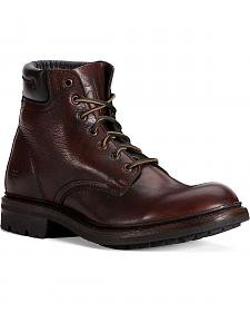 Frye Men's Freemont Lace-Up Work Boots - Round Toe