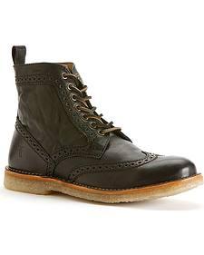 Frye Men's Hudson Wingtip Boots - Round Toe