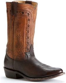 Frye Men's Wyatt Americana Cowboy Boots - Round Toe