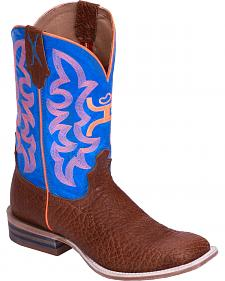 Hooey by Twisted X Neon Blue Cowboy Boots - Wide Square Toe