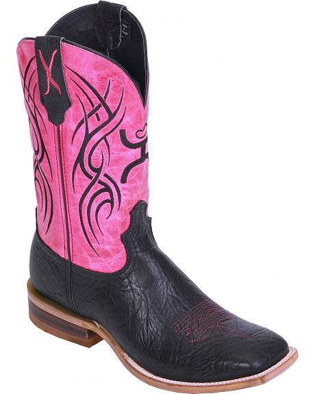 Hooey by Twisted X Neon Pink Cowboy Boots - Wide Square Toe