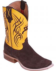 Hooey by Twisted X Neon Yellow Cowboy Boots - Square Toe