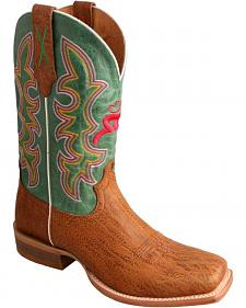 Twisted X Hooey Suntan Cowboy Boots - Square Toe