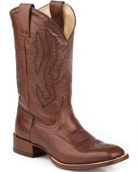 Stetson Classic Brown Cowboy Boots - Square Toe