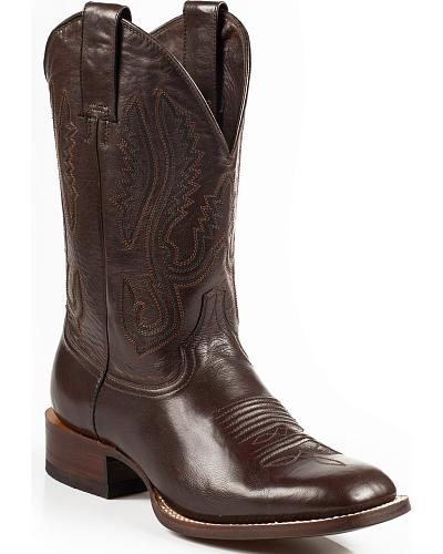 Stetson Flynt Buffalo Calf Boots Square Toe Western & Country 12-020-1835-0002 BR