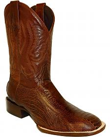 Stetson Will Ostrich Cowboy Boots - Square Toe