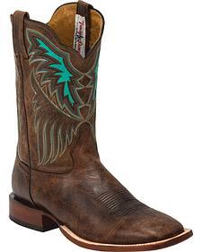 Tony Lama Iron Shiloh San Saba Western Boots - Square Toe