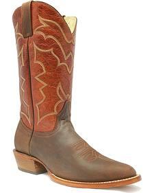 "Stetson Bat 13"" Cowboy Boots - Round Toe"