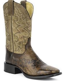 "Stetson Hank 11"" Cowboy Boots - Square Toe"