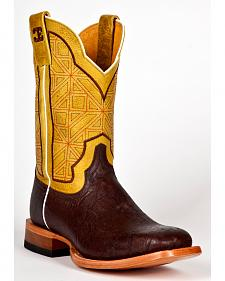 Cinch Men's Elephant Print Western Boots - Square Toe