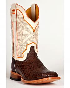 Cinch Men's Caiman Print Western Boots - Square Toe