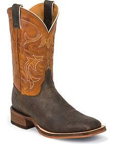 Justin Men's Bent Rail Cowboy Boots - Square Toe
