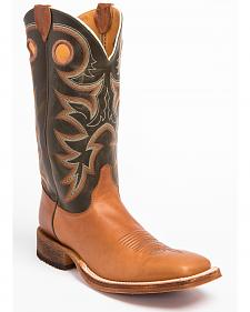 Justin Men's Bent Rail Cowboy Boots - Square Toe