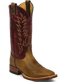 Justin Tan Damiana Cowboy Boots - Square Toe