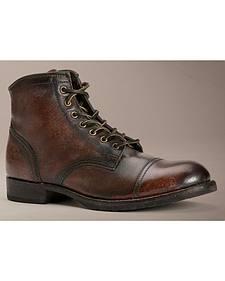 Frye Logan Cap Toe Lace Up Boots